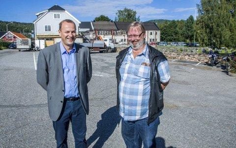 Lardal Frp: Anton Halvor Lofstad (t.v.) og Vidar Freslo er henholdsvis nummer én og to på Frp-lista i Lardal.