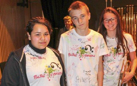 Gledet seg: Marie Pihl (t.h.), Sondre Oksvik og Anin Tomi gledet seg til sommerkonsert.