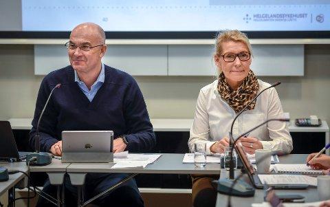 Etter fire timer med styreseminar om framtidas fødetilbud, er det duket for styremøtet i Helgelandssykehuset 30. april. Da får styreleder Dag Hårstad og administrerende direktør Hulda Gunnlaugsdottìr, flere spørsmål de må svare på.