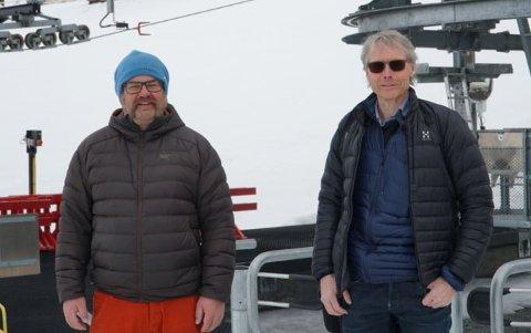 Toni Frantz (t.v.) tok i fjor høst over som daglig leder i Hemavan Alpint etter Thomas Ringbrant.