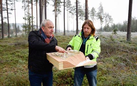 """SKOGSHUS: """"Hus i skogen"""" blir arbeidstittelen når Frank Engejordet og Cato Bisgaards arkitekter skal tegne hustyper på Bergermoen."""