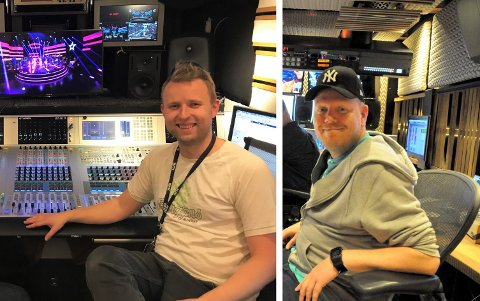 NOMINERT: Håkon Aarøen og Jørn Dahl er nominert for «Beste lydproduksjon» med NRk-programmet Stjernekamp I TV-bransjens kåring «Gullruten».