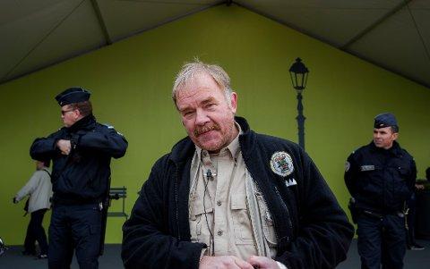 Kurt Oddekalv under FNs klimakonferanse COP21 i Paris 2015.