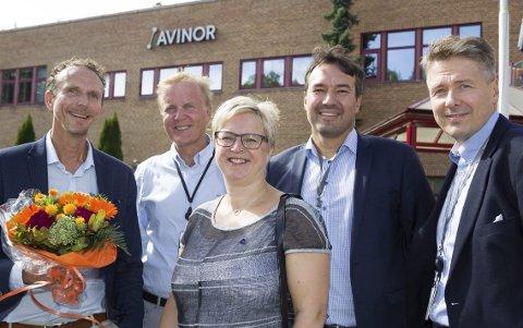 LEDERTEAM: Anders Kirsebom, Dag Falk-Petersen, Eva Norén Eriksen, Jan-Gunnar Pedersen og Svein Erik Lunde var tilstede da nyheten om investeringer ble kjent.