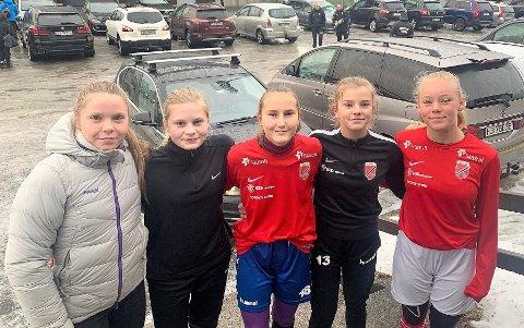 TOPPNIVÅ: Vendela Bakke, Linnea Tvenge, Seline Skilrud, Klara Norlemann og Mari Bratten.