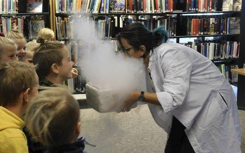 Populært: Familieforestillingene på biblioteket i Sande var populære i året som gikk. ARKIVFOTO.