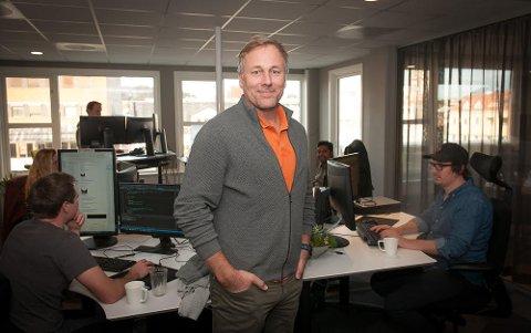 FORNØYD: Bjørn Kaare Bøe og resten av teamet er fornøyd med sentrumsplasseringen.