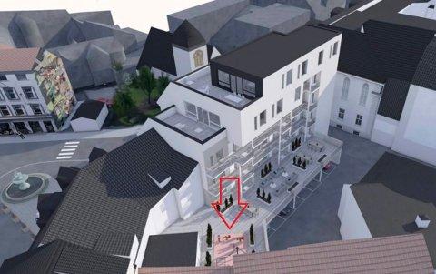 LEKEOMRÅDE: Det er denne planlagte lekeplassen barnetalsmann Ivar Ramberg kritiserer. (Illustrasjon: Spir Arkitekter)