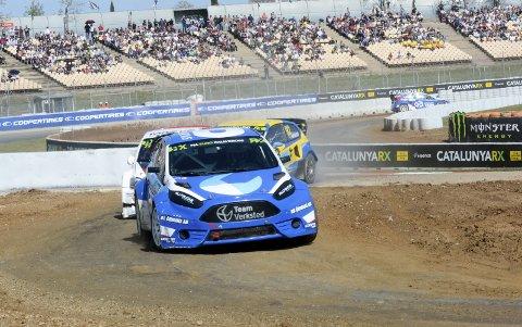 STRÅLENDE KJØRT: Ola Frøshaug har imponert i hele helgen med bra fart i sin Ford Fiesta. Det resulterte i en sjuendeplass i EM-åpningen.