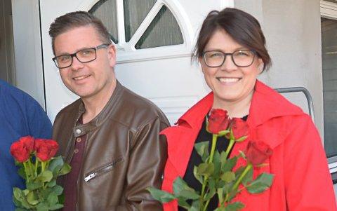 TOPPER: Kathrine Hestø Hansen og Håvard Abotnes Osflaten er innstilt som første- og andrekanddiat på valglista neste år.