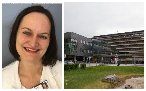 INGEN MISTANKE: Det var ingen mistanke om korona då pasienten kom til akuttmottaket i Førde, opplyser fagdirektør Evy-Helen Helleseth.