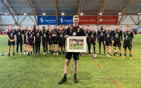 BESTEMANN: Martin Ove Roseth (22) blei bestemann på Sogn Avis-børsen i 2020-sesongen, med eit snitt på 5,88 poeng per kamp. – Det set eg veldig stor pris på, seier midtstopparen.