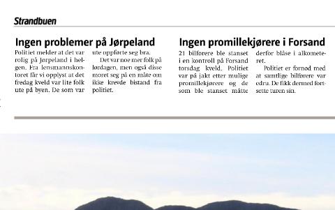 INGEN PROBLEMER: Det skjedde lite i Strand og Forsand i desember 2015. Det fekk Gaute Henriksen til å etterlysa meir action.