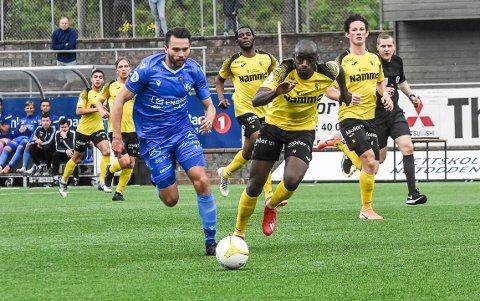 ETT ÅR: Martin Holmen er spilleren med lengst fartstid i dagens NFK, og nå er han klar for ytterligere en ny sesong. Han kom til klubben i 2012.
