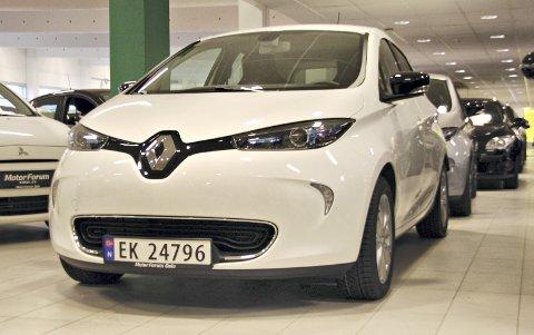 VIKTIG: Elbilen Zoe står for en svært stor del av Renault-salget i Norge. Nå er den klar med 40 mils rekkevidde,.