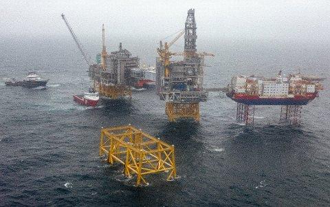 LAVERE UTSLIPP: Strømtilførsel fra land gjør at Johan Sverdrup i Nordsjøen er ett av de oljefeltene i verden som drives med lavest utslipp, skriver Vidar Lunde.