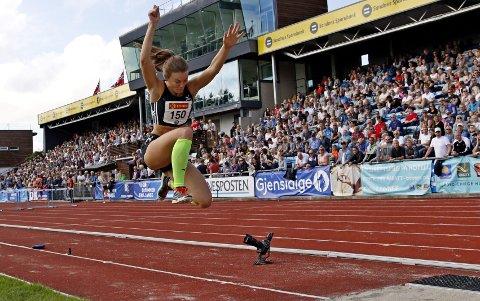 Personlig rekord: Oda Utsi Onstad er stabil rundt 13 og en halv meter, og sist helg tøyde hun seg til 13,52 og ny personlig rekord.