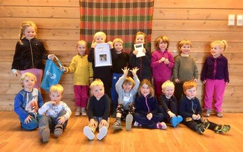 Vant:  Ranheim Naturbarnehage vant et gavekort på kr 2000,- som de kan kjøpe utstyr som barna får glede av.