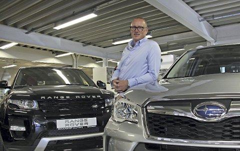 BRYTER AVTALEN: Morten Danby, daglig leder i Branko's Auto, må la være å fornye forhandleravtalen med importøren av Land Rover og Jaguar. Men han skal fortsatt selge både Subaru og Land Rover etter bruddet.