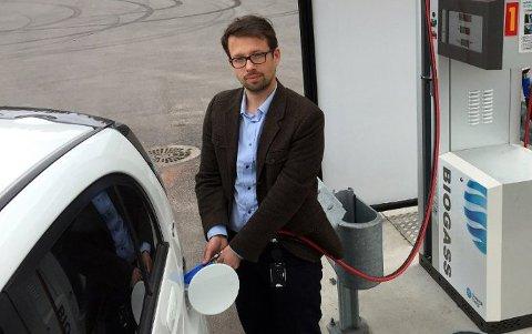 HÅPER PÅ SPENNENDE SØKNADER: Benjamin Myklebust Rød håper på mange søknader om støtte til innovative energiprosjekter, for eksempel prosjekter som involverer bruk av biogass.