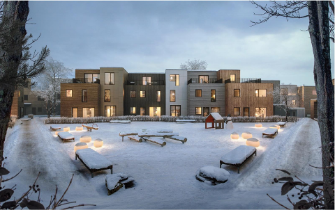 450 NYE BOLIGER: Solon Eiendom skal bygge 450 nye boliger på Dyster Eldor sør for Ås sentrum.