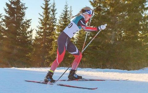 I FARTEN: Kristine Louise Kvamme tok andreplass på søndagens fristil i Natrudstilrennene.