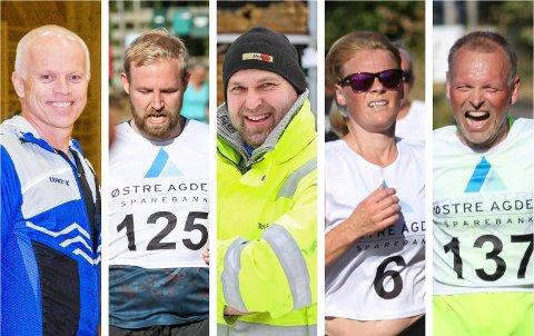 SPREKINGER: Fra venstre: Thomas Axelsen, Daniel Lanes, Terje Sivertsen, Rita Kristoffersen og Rune Hansen.