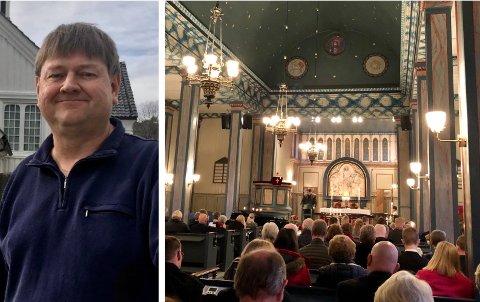 FØLGER SITUASJONEN: Bjørn Hasselgård, kirkeverge i Risør, vil legge til rette for at mange får gå i kirken på julaften også i koronaåret 2020.