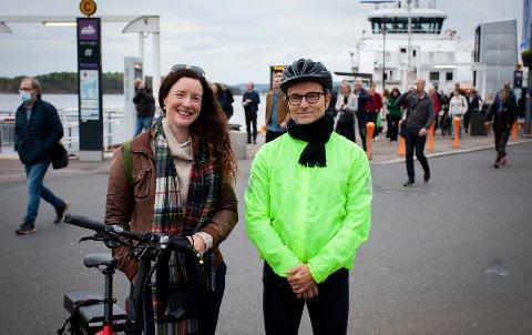 RÅDHUSPLASSEN: Inger-Lill Persett og Jan Petter Solberg ønsker en bedre løsning for alle som beveger seg over Rådhusplassen.