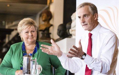 Statsministerduell: En av dem blir Norges neste statsminister. Men        Erna Solberg og Jonas Gahr Støre trenger ikke bruke tid på å sette sammen sin regjering. Det har vi nemlig gjort for dem.