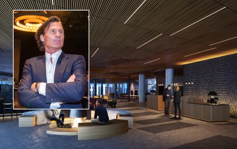 Det nye hotellet i Ramsalt åpner allerede i mai, ifølge Petter Stordalen selv. (Illustrasjon lobby Quality Hotel i Ramsalt: Zinc) og Terje Pedersen/NTB