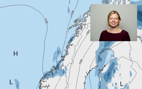 Vakthavende meteorolog Camilla Albertsen melder om en kald helg for folk i Salten.