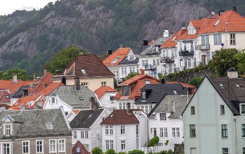 De siste fem årene har boligprisene i Bergen i snitt sunket med 1,6 prosent i september.