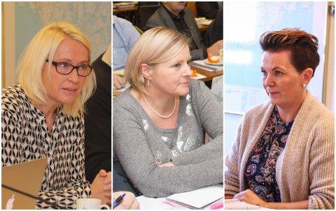 UENIGE: Anja Hovland (H), Hanne Christine Berg (Frp) og Siw Tollefsen (Ap) hadde hvert sitt forslag i flyktningesaken.