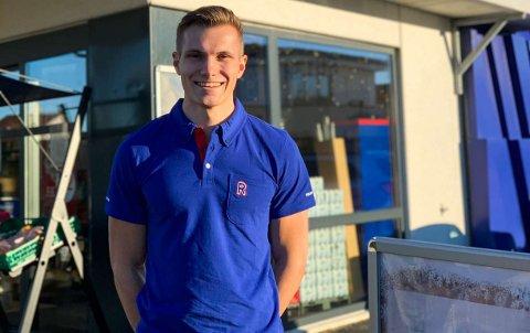 SNART PÅ PLASS: Sander Landa overtar Rema 1000-butikken i Årstadalen i Egersund i november. Han har nylig etablert selskapet Sander Landa AS.