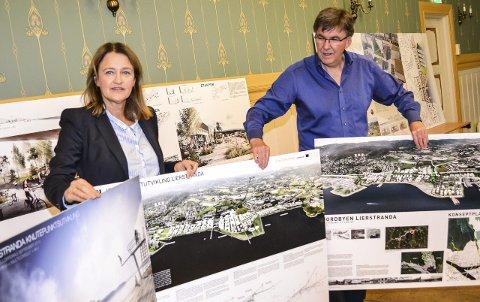 GODE IDEER: Kommunalsjef Synnøve Tovsrud og prosjektleder Lierstranda Jan Moen har fått mange ideer til Fjordby-prosjektet.