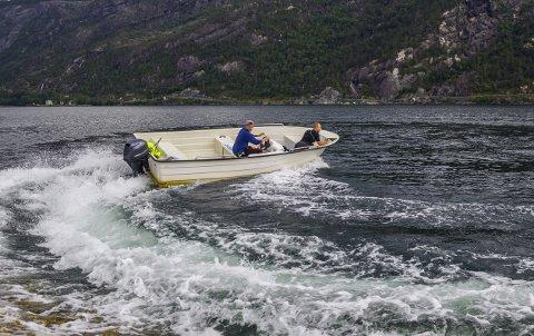 HØY FART: Hos Gjensidige opplever de at båtene blir stadig mindre samtidig som motoren blir stadig sterkere.