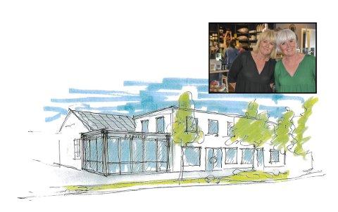 NYE LOKALER: To søstre har funnet drømmelokalene og etter påske kan de åpne kafé- og butikkdriften sin igjen.