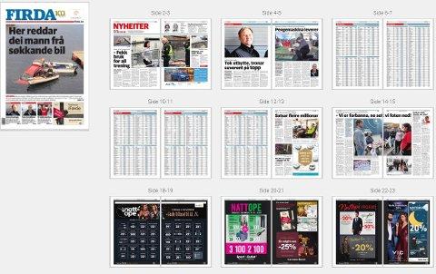 Torsdagsavisa er i to delar. Grunna tekniske problem er ikkje heile avisa tilgjengeleg for augeblikket. Vi jobbar med saka.