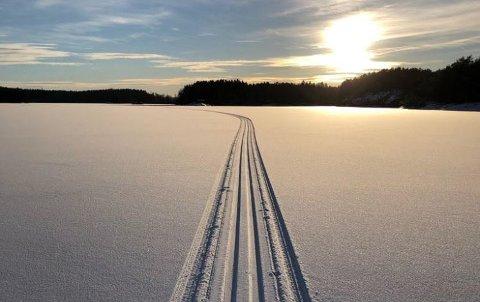Drømmedag: Forrige helg viste januar seg fra sin beste side. Med skiløyper på Vansjø ble det god, gammeldags vinter for mange i Råde.