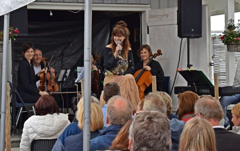 Videreføres: Ideen med artist og strykekvartett på Ullerøyfestivalen tas nå med til City Scene denne høsten. Cecilia Vennersten og Sigvart Dagsland er artistene.