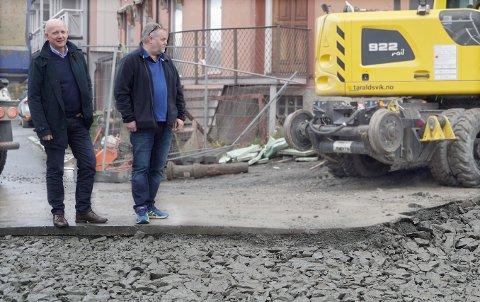 Karl Aksel Vik (t.v.) har full kontroll i Taraldsvik AS etter store endringer på eiersiden. Her sammen med daglig leder Ketil Svenningdal.