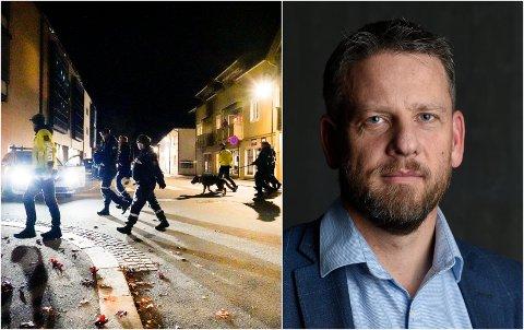 PST INNLANDET: Jørn Presterudstuen uttaler seg om situasjonen for PST Innlandet i kjølvannet av hendelsene i Kongsberg.