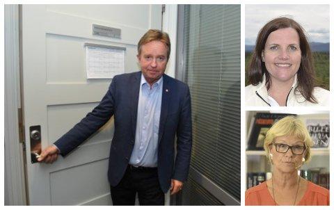 ADVARER: Grans ordfører Randi Eek Thorsen og Etnedals ordfører Linda Mæhlum Robøle er skuffet. Stortingsrepresentant Tore Hagebakken (Ap) advarer mot farene ved å røre ved den enigheten som har vært om et sykehus ved Mjøsbrua.
