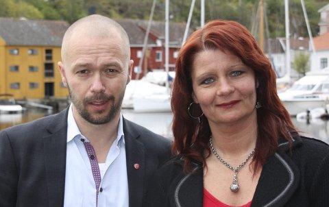 NY KURS: Arve Sigmundstad og Kisrti Brække Myrli mener det er mulig å gi Halden en ny og bedre kurs.