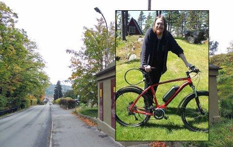 KOSTET 30.000: Elsykkelen til Freddy Holm ble stjålet rett utenfor husveggen i Busterudkleiva.