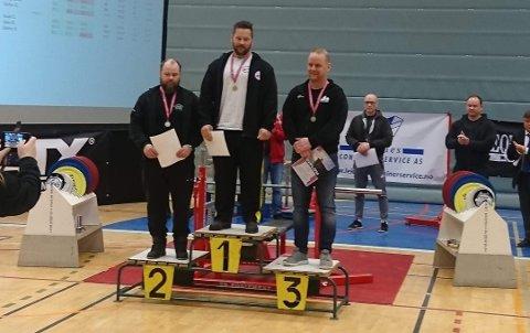 NM-GULL: Trond Borgli på toppen av seierspallen i NM.