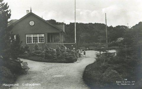 LOTHEPARKEN: Lotheparken var en av de første bynære områdene der det ble plantet skog. Her er et postkort fra 1950-årene som viser kafeen og spaserstier. ALLE FOTO: KARMSUND FOLKEMUSEUM