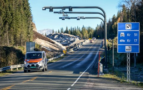 BILLIGERE BOM: Nå blir det billigere å passere bomstasjonene som ligger fra grensen til Nord-Trøndelag fram til Bolna.