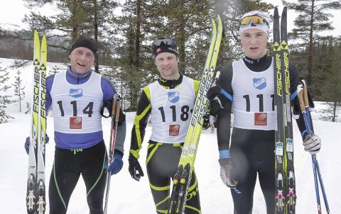 PALLEN:  De tre beste fra venstre Ståle Brennhaug, Fiplingdal, Ståle Sirijord, Hattfjelldal og Oddmund Haugnes, Frol.